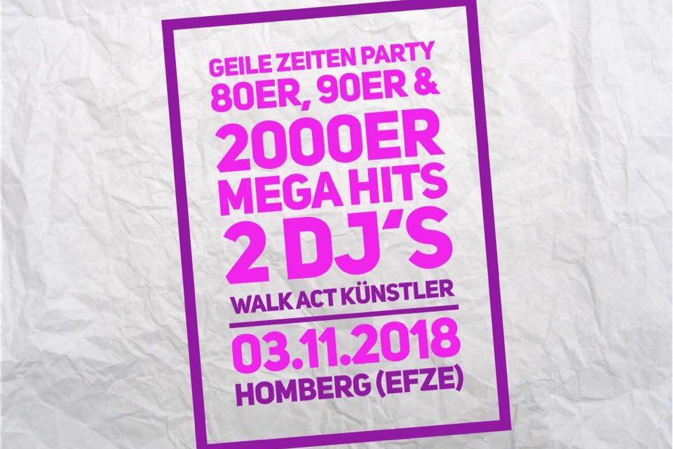 Geile Zeiten Party 2018